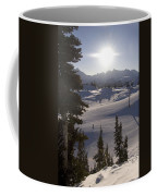 Early Morning Skiing Coffee Mug by Taylor S. Kennedy