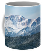 Early Morning Snow On Pikes Peak Coffee Mug