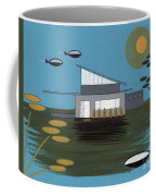 Early Painting Futuristic House Coffee Mug