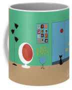 Early Painting Mid Century Room Coffee Mug