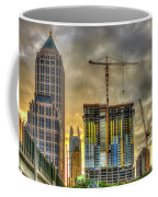 Early Start Skyscraper Construction Atlanta Georgia Art Coffee Mug