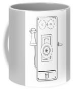Early Telephone Line Drawing Coffee Mug