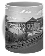 East St. Claire Covered Bridge Black And White Coffee Mug