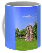 East Window Remains Of Old Church At Ticknall Coffee Mug