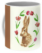Easter Background With Rabbit Coffee Mug