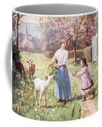 Easter Eggs In The Country Coffee Mug by Victor Gabriel Gilbert