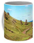 Easter Island Moai At Rano Raraku Coffee Mug