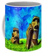 Easter Island - Van Gogh Style - Pa Coffee Mug