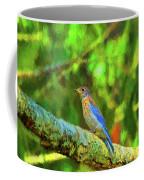 Eastern Blue Bird With Flair Coffee Mug