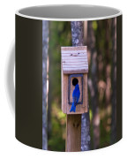 Eastern Bluebird Entering Home Coffee Mug