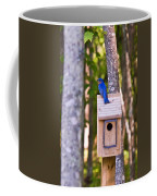 Eastern Bluebird Perched On Birdhouse Coffee Mug