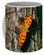 Eastern Comma Butterfly Coffee Mug