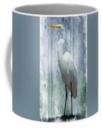 Eastern Great Egret Ardea Alba Modesta Coffee Mug