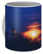 Eastern Orthodox Church Under Full Moon Coffee Mug