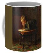 Eastman Johnson - Reading Boy Coffee Mug