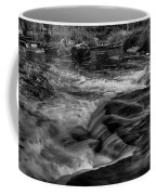 Eau Claire Dells Black And White Flow Coffee Mug