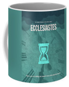 Ecclesiastes Books Of The Bible Series Old Testament Minimal Poster Art Number 21 Coffee Mug
