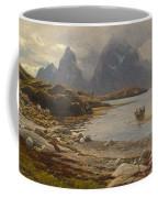 Eckenbrecher, Karl Paul Themistokles Von Athens 1842 - 1921 Goslar Norwegian Fjord Coffee Mug