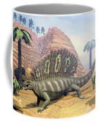 Edaphosaurus Dinosaur - 3d Render Coffee Mug