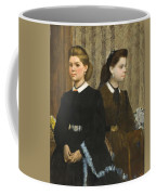 Edgar Degas - The Bellelli Sisters Giovanna And Giuliana Bellelli Coffee Mug