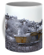 Edinburgh Castle And National Galleries Of Scotland In Winter Coffee Mug