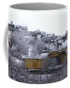 Edinburgh Castle And National Galleries Of Scotland In Winter Coffee Mug