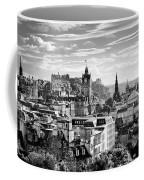Edinburgh From Calton Hill.    Black And White Coffee Mug
