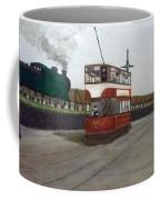 Edinburgh Tram With Goods Train Coffee Mug