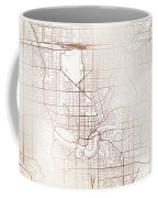 Edmonton Street Map Colorful Copper Modern Minimalist Coffee Mug