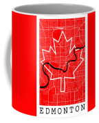Edmonton Street Map - Edmonton Canada Road Map Art On Canada Flag Symbols Coffee Mug