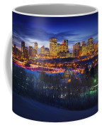 Edmonton Winter Skyline Coffee Mug