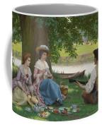 Edmund Blair Leighton 1852-1922 A Picnic Party Coffee Mug