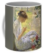 Edmund Charles Tarbell - Mercie Cutting Flowers 1912 Coffee Mug