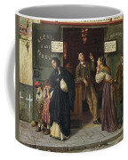 Eduardo Matania, Beim Pfandleiher 1870s Coffee Mug
