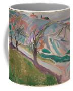 Edvard Munch , Landscape, Kragero Coffee Mug