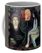 Edvard Munch - Girl And Three Mens Heads 1895-98 Coffee Mug