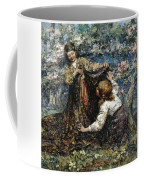 Edward Atkinson Hornel 1864 - 1933 The Butterfly Catchers Coffee Mug