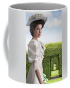 Edwardian Woman In A Summer Garden  Coffee Mug
