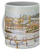 Effect Of Snow At Eragny Coffee Mug by Camille Pissarro