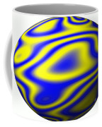 Egg In Space Blue And Yellow Coffee Mug