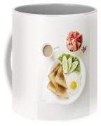 Egg Salad Toast Fruit And Coffee Breakfast Set Coffee Mug