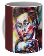 Egon Schiele - Watercolor Portrait.2 Coffee Mug