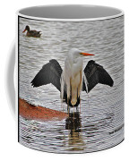 Egret And Cormorant Wings Coffee Mug
