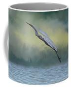 Egret Art I With Foreground Fog  Coffee Mug