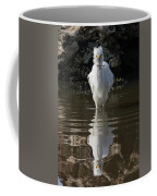 Egret Catches A Stickleback Coffee Mug