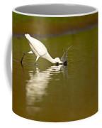 Egret Egretta Garzetta Forages For Food Coffee Mug