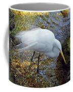 Egret Fishing Coffee Mug
