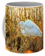 Egret Fishing In Sunset At Forsythe National Wildlife Refuge Coffee Mug