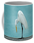 Egret Foot Inspection Coffee Mug