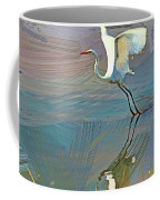 Egret Getting Ready For Take Off Coffee Mug